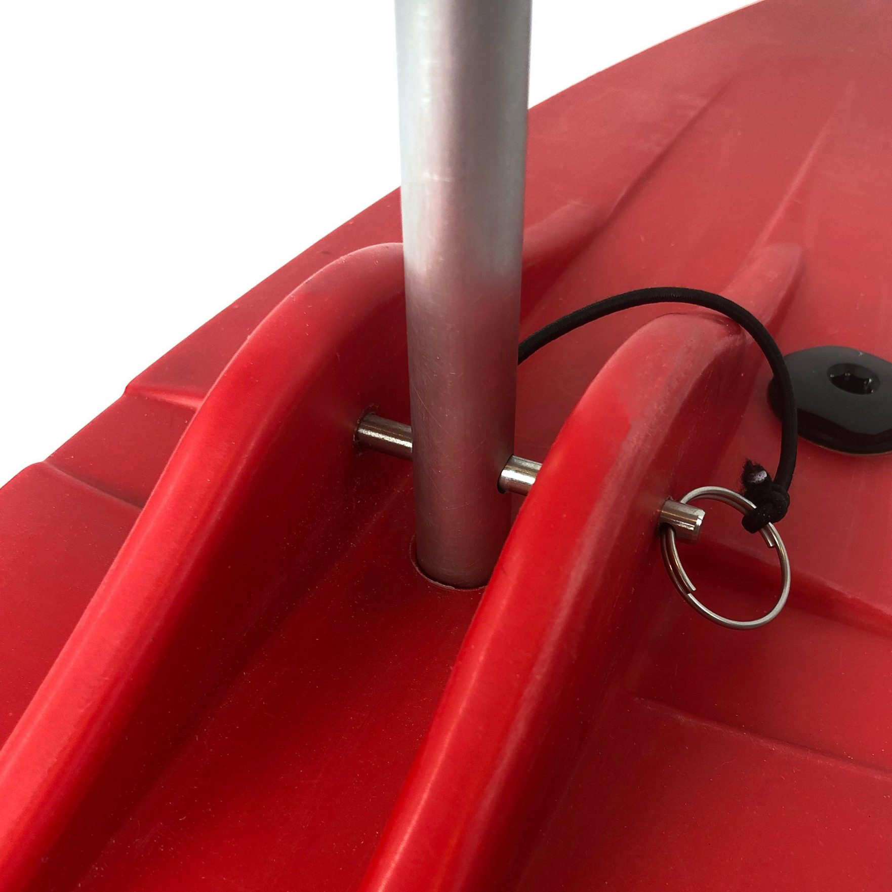 Bold Ivy Canoe Stabilizer Floats – Top Detail – Red